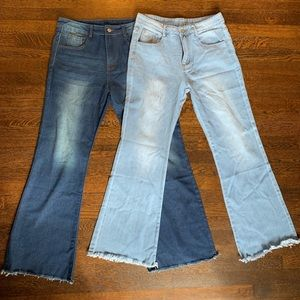 Bundle of 2 Wide Leg High Waist Jeans